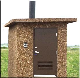 Clovermist Vault Toilet Boom Concrete
